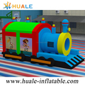 Hot huale 7.5x3.5x3.5m inflatable Train combo inflatable bouncy castle