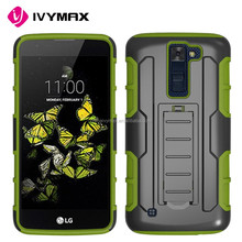 China mobile phone case manufacture for LG K350/k8 holster combo case