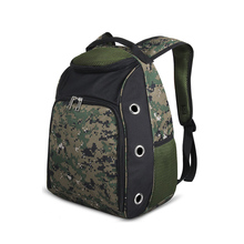 Portable Pet Dog Carrier Comfortable Hand Free Camo Pet Backpack Dog Travel Bag with Wide Straps for Outdoor