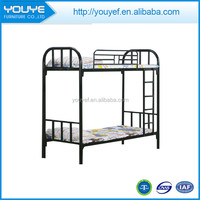 Cheap Iron Kids Bunk Bed With Armrest For School Dormitory