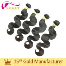 Competitive supplier XBL top quality star body wave hair extension prices