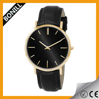 Promotional item favorable price classical design slim case wrist watch classic