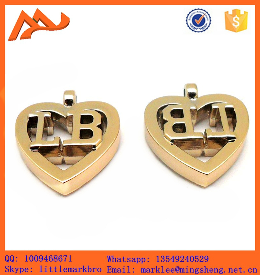 gold color factory price heart shape fashion pendant