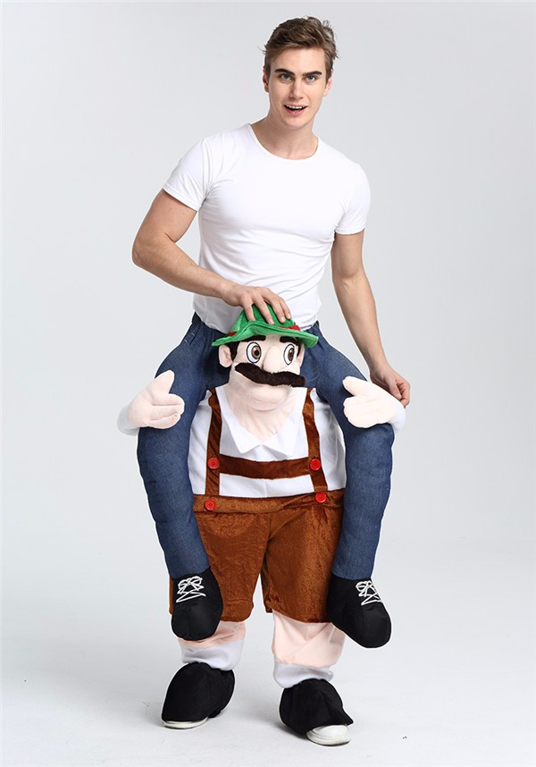 Wholesale Funny Workman Mascot Costume Adult Carry me Costume for gift