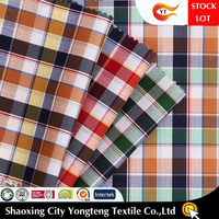 New yarn dyed elastic plaid cotton shirt fabric