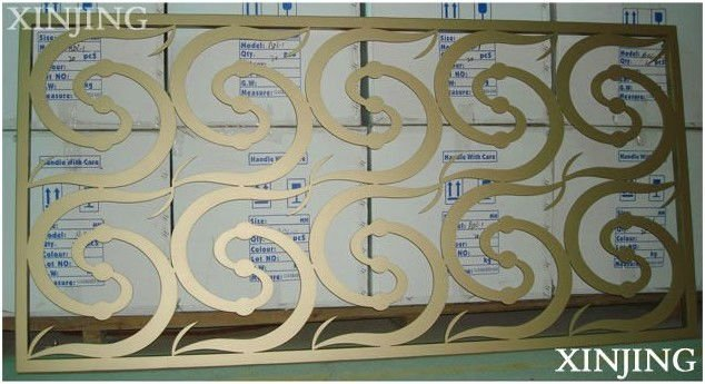 CNC wall in curve pattern design(CE/TUV/ISO9001)