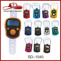LED Tally Counter LED Finger Counter, Muslim Counter,Finger Tally Counter 12 Colors Pack With Plastic Box or Paper Card