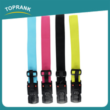 Toprank Durable TSA 3-dial Luggage Strap Lock Adjustable Polyester Suitcase Travel Luggage Belt With Weighting Scale