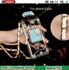 Factory wholesale Bling Crystal case for iphone6 plus, influx of women Lanyard perfume bottle case for ip6 +
