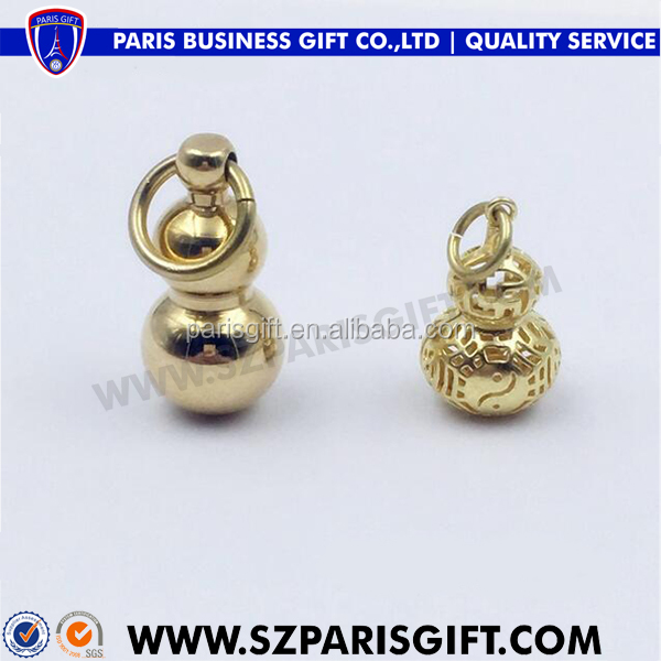 Craft supply gold plate small decorative bottle gourd for kids