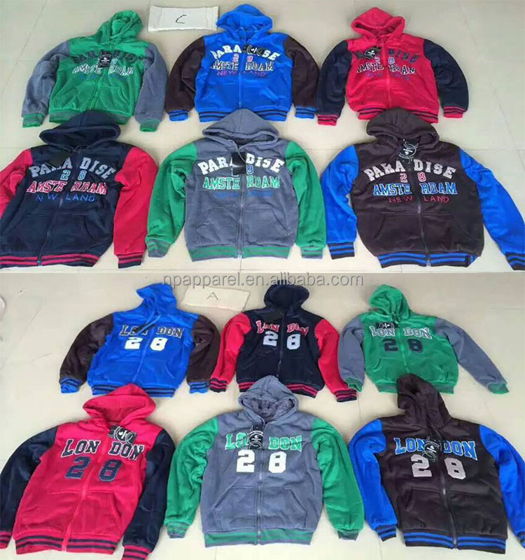 Factory overruns stocklot brush fleece hoodie