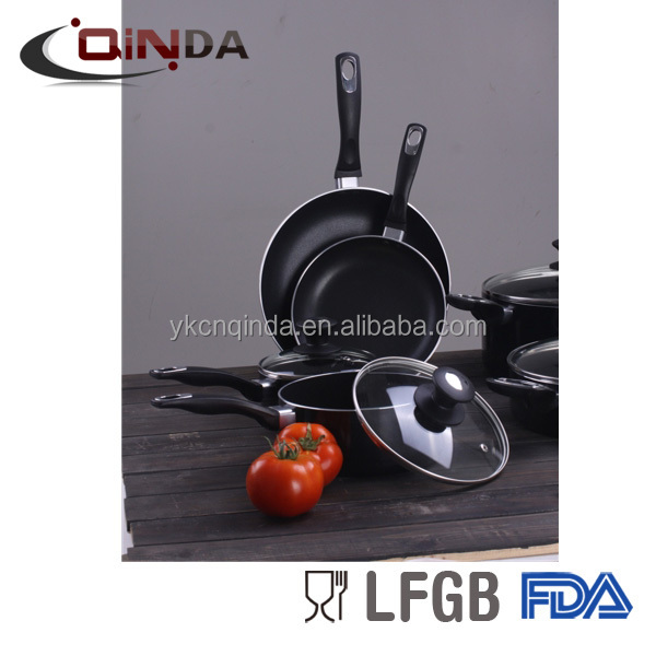 Forged aluminum non-stick soup pot kitchware cookware set
