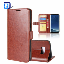 New Arrival Product Wallet Folio Flip PU Leather Case Protective Shell Magnetic Card Holder Back Cover For Samsung Galaxy S8