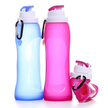 Hot Outdoor <strong>Sports</strong> Drinking Bottle Custom Collapsible Silicone Foldable Water Bottle