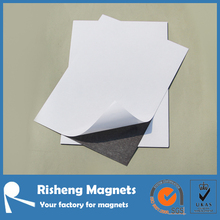 Chinese adhesive backed magnetic paper A4 thin flat flexible magnet sheet