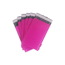 Customized Logo Mailing Packaging Hot Pink Air Bubble Shipping Envelope Mailer Bag