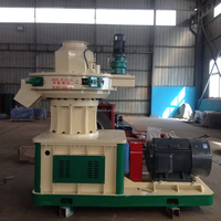 CSPM 2016 hot sale wood pellet mill 1 ton per hour with auto lubrication system