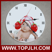 Custom photo printing 30cm sublimation blank coated photo frame wall clock