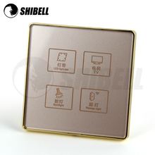 SHIBELL 4 gang EU smart touch wall switch with CE and RoSH certification