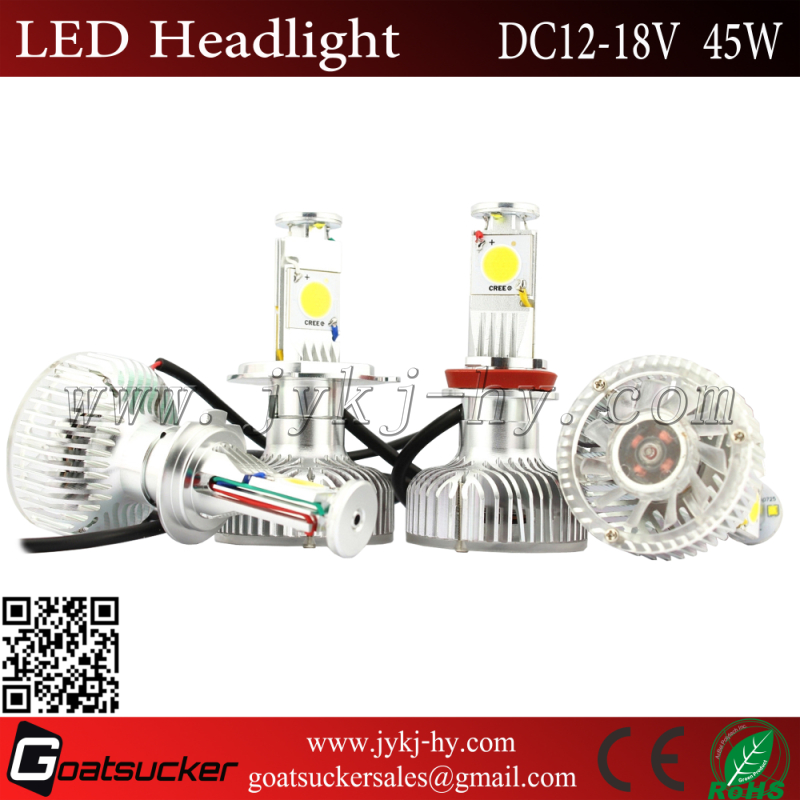 Auto Bulbs c ree flip chip H8,H11,H16 high power auto headlight led headlight dodge journey fiat freemont