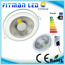 Glass cover 230v 15w Kitchen cob led downlight