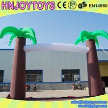 Customized arch shaped inflatable palm trees for party
