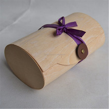 Cork leather box Birch bark tea caddy Wood packaging The paper towel box bark The tea box package