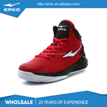 ERKE wholesale dropshipping red black blue brand high ankle basketball shoes