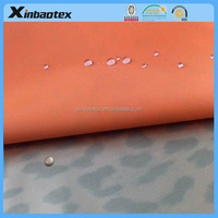 Zhejiang textile two layers fabric 240T plain polyester pongee +printed TPU membrane