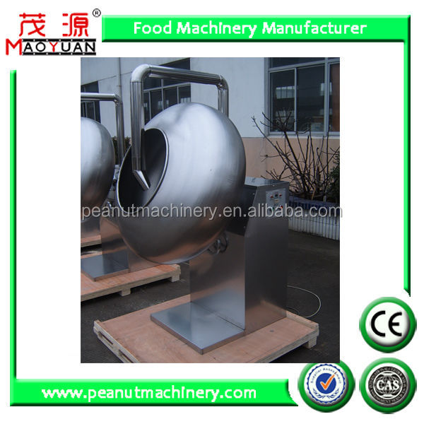 Chocolate peanut glazing machine