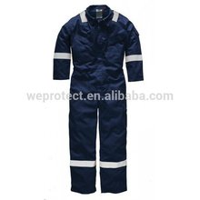 FR flame resistant coverall safety workwear with reflective tape for oil and gas protection