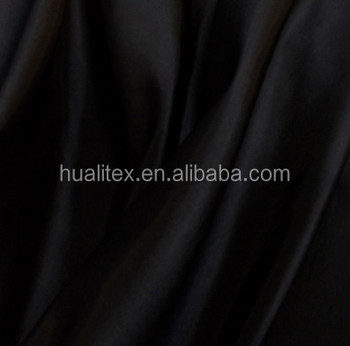 100% polyester Taffeta Solid Fabric Black Sold by the yard