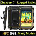 Cheapest drop proof rugged tablet with 7 inch 4GLTE wifi blutooth GPS NFC 2G+16G quad core rugged tablet pc rugegd computer