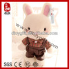 2014 easter bunny birthday gifts stuffed rabbit teddy bear cute white rabbit with clothes soft toy rabbit plush easter bunny