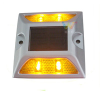 Road safety Embedded 3M reflective LED aluminum solar road stud road
