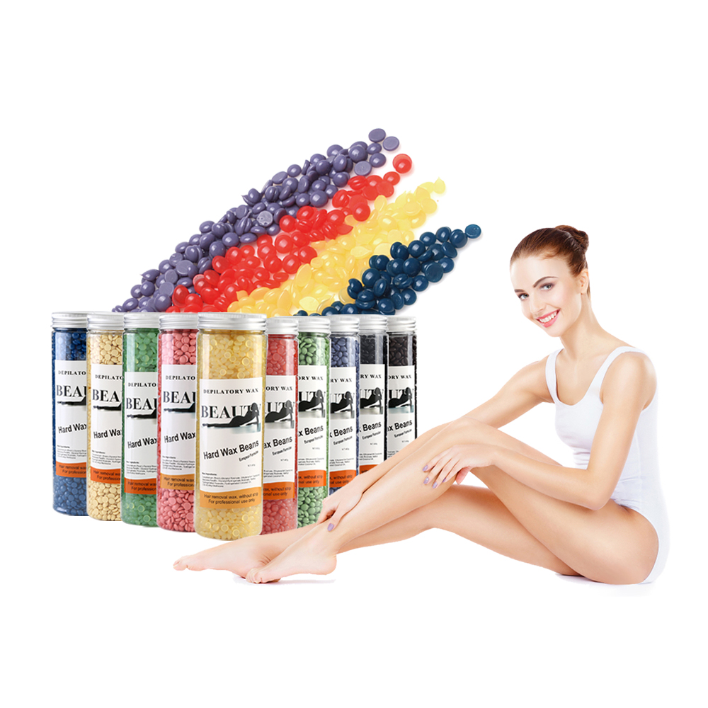 400g  Factory sales promotion high quality wax beans bottle wax 10 flavours painless depilatory wax