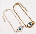 Metal evil eye zircon bracelet jewelry
