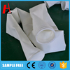 Nonwoven polyester filter bags for cement industry bag filters