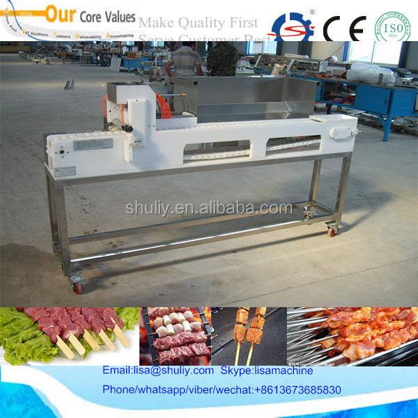 Factory Price Automatic Meat Skewer Machine/bbq Skewering Machine/Kabab Making Machine 0086-13673685830