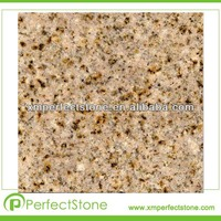 Cheap g682 golden sand granite ountertop vanity top tiles slabs from factory