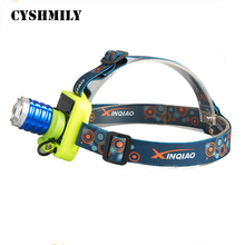 CYSHMILY q5 direct charge lithium battery zoomable rechargeable waterproof led 5w solar headlight with adjustable head