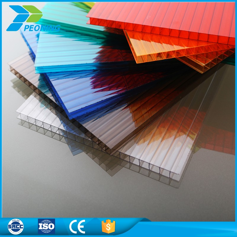 Low price twin wall transparent polycarbonate plastic sheets