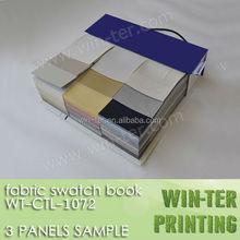 WT-CTL-1072-2 Professional fabric sample book manufacturer