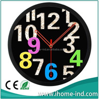 taiwan wall clock with colorful numbers
