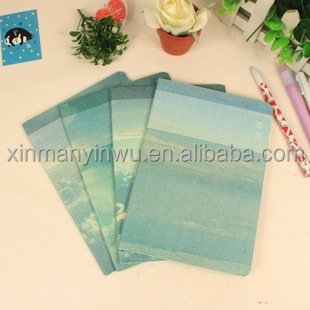Blue sky English four wire grid notebook