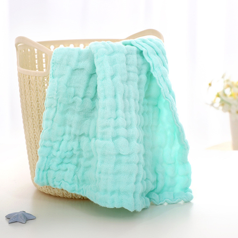 "Factory Wholesale Plain Dyed High Quality Organic Cotton Washcloths 10""<strong>x10</strong>"" Baby Face Towel"