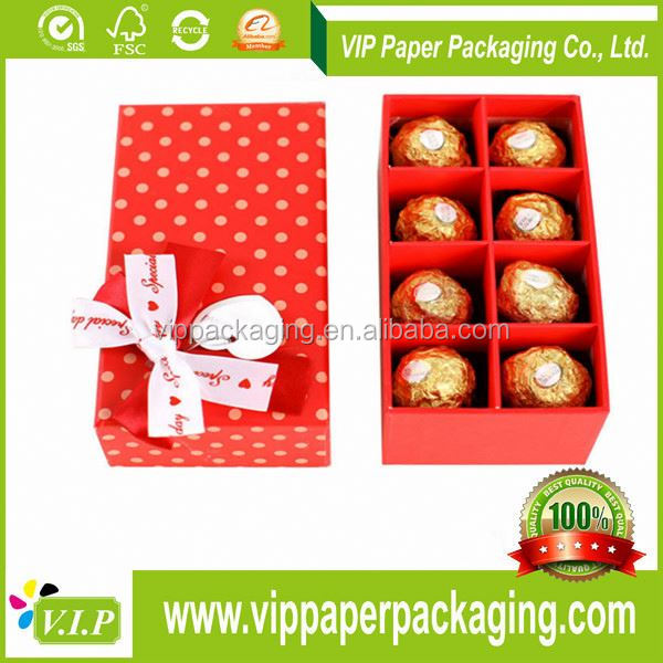 YIFENG 100% CUSTOM PACKAGING CELEBRATIONS DECORATIVE EMPTY PAPER CHOCOLATE BOX