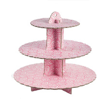cardboard cupcake display stand with customized printing cheap round table top display for bread