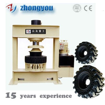YM200 ton Forklift Solid Tyre Hydraulic Press Machine