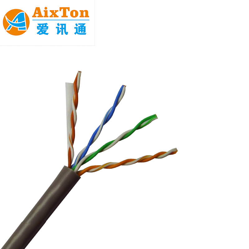 Moderate Price 4pairs bare copper cat5e utp Internet straight cable